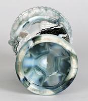 Sowerby / Edward Moore Marbled Slag Glass Gryphon Vase c.1880 (8 of 16)