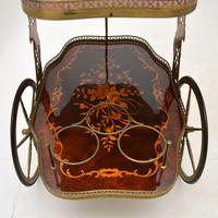 Vintage Italian Brass & Marquetry Drinks Trolley (6 of 14)