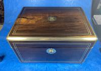 Georgian  Rosewood Brassbound Vanity Box (11 of 34)