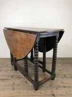 Early 18th Century Yew & Fruitwood Gateleg Table (9 of 12)