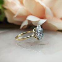 Vintage 18ct Gold Aquamarine & Diamond Cluster Ring, 18k Dress Cocktail Statement (10 of 12)