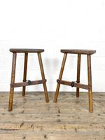 Pair of Rustic Wooden Cutler's Stools (3 of 10)