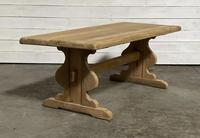 French Oak Trestle Farmhouse Dining Table (11 of 14)