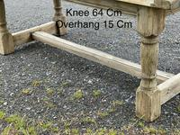 Rustic Bleached Oak French Farmhouse Dining Table (32 of 34)