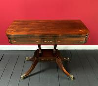 Exceptional Regency Period Rosewood Inlaid Fold-over Occasional Card Games Table (2 of 14)