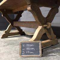 Small French Oak Farmhouse Kitchen Dining Table (5 of 11)