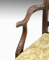 Substantial Early 20th Century Chippendale Style Ladderback Elbow Chair (7 of 8)