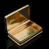 Georgian Solid Silver Gilt Snuff Box With Spectacular Fox Hunting Scene - Edward Smith 1832 (10 of 22)