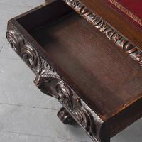 Antique Oak Flemish Writing Table (14 of 15)