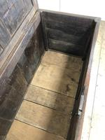 Antique 18th Century Oak Coffer with Three Panel Front (7 of 19)