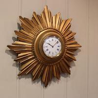 Sunburst Carved Giltwood Wall Clock (6 of 9)