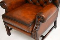 Antique Georgian  Style Leather Wing Back Armchair (3 of 9)