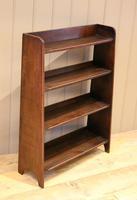 Small Graduated Open Oak Bookcase (4 of 10)