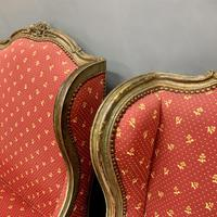 Pair of French Painted Wing Armchairs (7 of 8)