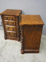 Pair of Victorian Figured Walnut Bedsides (9 of 10)