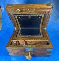 Victorian  Walnut Brassbound Writing Slope (5 of 19)