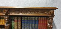 Outstanding Carved Oak Open Library Bookcase (7 of 16)