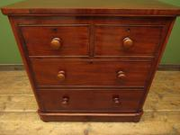Handsome Small Antique Mahogany Chest of Drawers (4 of 20)
