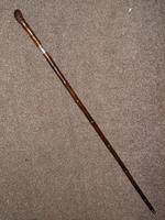 Victorian Hallmarked Repousse Silver 1896 Sword / Walking Cane W/Burr Root Top (4 of 13)