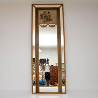 Very Tall Antique Giltwood Mirror with Oil Painting (2 of 12)