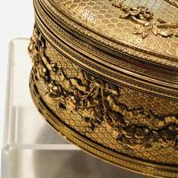 Super large gilt jewel box with Limoges enamel miniature (3 of 5)