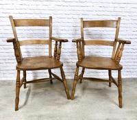 Set of Oxford Barback Windsor Chairs with 2 Carvers (6 of 7)