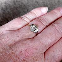 1920s Art Deco Diamond Ring 18ct White Yellow Gold (8 of 8)