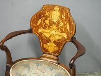 George III Style Inlaid Mahogany Side Chair (2 of 9)