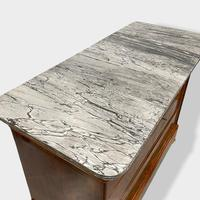 Exceptional Quality Inlaid Marble Top Commode (9 of 12)
