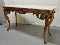 19th Century French Marble Top Gilt Centre Table & Matching Wall Mirror (3 of 11)