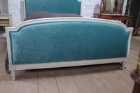 Lovely French Empire Newly Upholstered Bed (4 of 7)