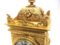 Good French Ormolu Cubed Classic 8 Day Striking Mantle Clock (10 of 11)