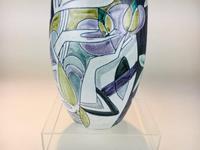 Fabulous Marian Zawadzki for Tilgmans Hand Painted Swedish Ceramic Vase c.1960s (4 of 13)