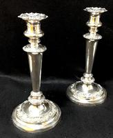 Pair of Old Sheffield Plate Candlesticks (2 of 5)
