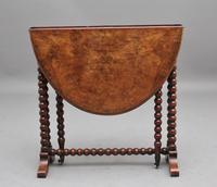 19th Century Burr Walnut Sutherland Table (5 of 6)