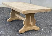 Bleached Oak Trestle End French Farmhouse Dining Table (8 of 22)