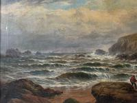 Gigantic George Henry Jenkins  19th Century Seascape Oil Painting (5 of 12)