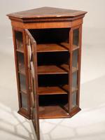 Late Georgian Period Oak Glazed Corner Cupboard (2 of 5)