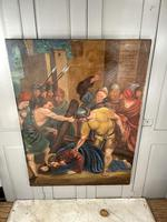 Antique French Religious Oil Painting Study of One of the Stations of the Cross (8 of 10)