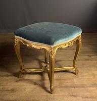 Beautiful French Giltwood Dressing Table Stool (7 of 12)
