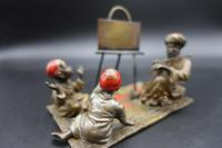 Late 19th Century Austrian Bronze of a Music Teacher with Two Pupils (5 of 5)