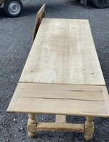Large Bleached Oak Farmhouse Dining Table with Extensions & Storage (16 of 35)