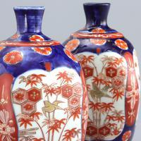 Pair of Japanese Meiji Period Square Form Imari Vases c.1890 (2 of 9)
