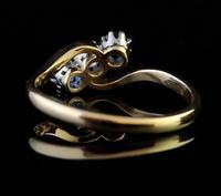 Vintage Art Deco Sapphire & Diamond Trilogy Ring (5 of 10)