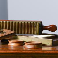 Victorian Mahogany & Brass Pill Maker (4 of 9)