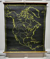 "University Chart ""Black Map of North America (2 of 5)"