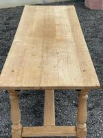 Large Bleached Oak Farmhouse Dining Table with Extensions & Storage (25 of 35)