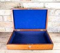 Large Flamed Mahogany Collectors Box 1880 (4 of 8)