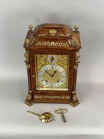 Fine quality burr walnut bracket clock by Lenzkirch of Germany, with a quarter chiming movement c.1903 (11 of 14)