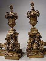 Late 19th Century Pair of French Bronze Chenet (2 of 4)